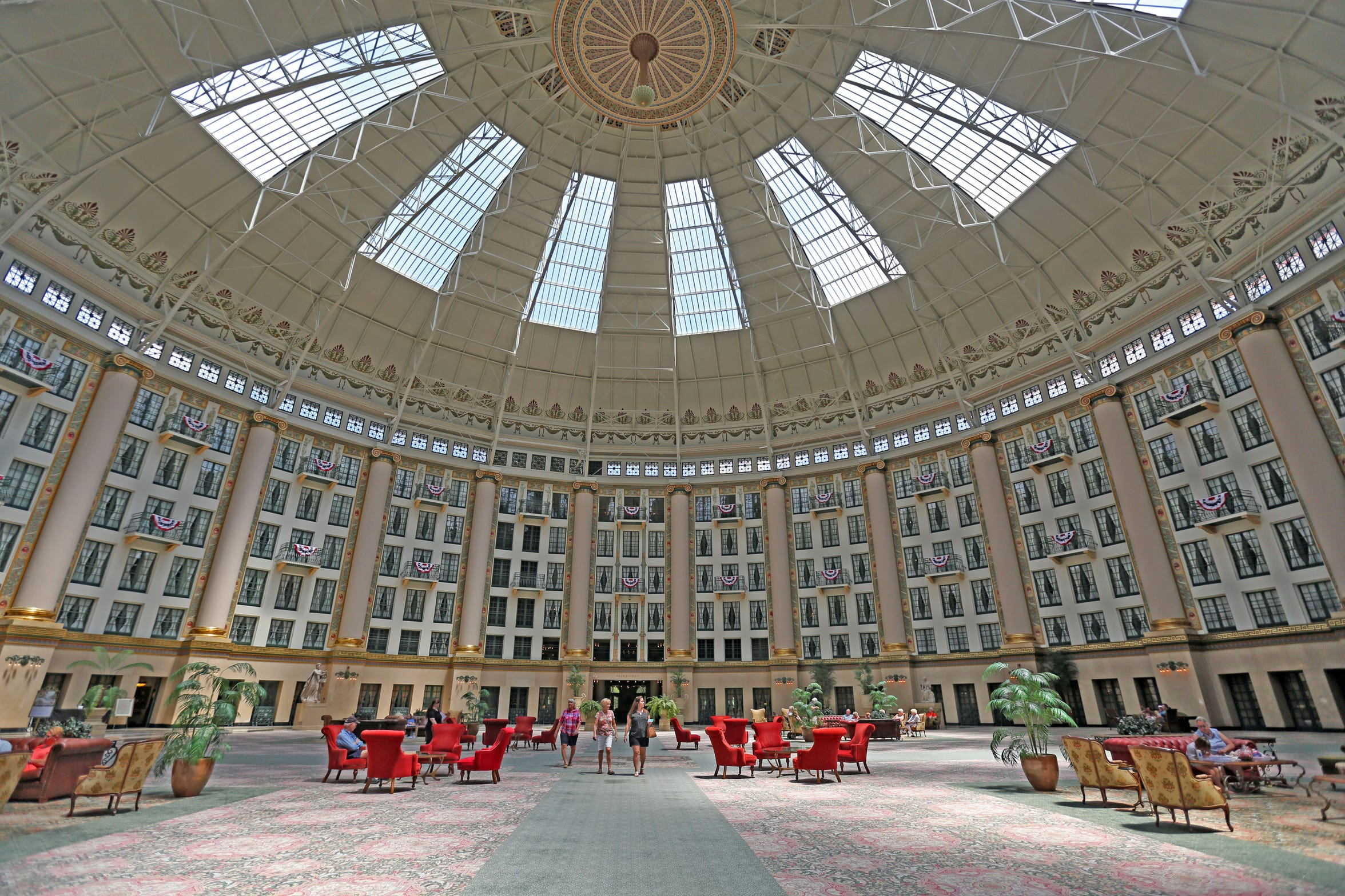 """The atrium of the West Baden Springs Hotel has been called the """"Eighth Wonder of the World."""" Shown in 2018."""