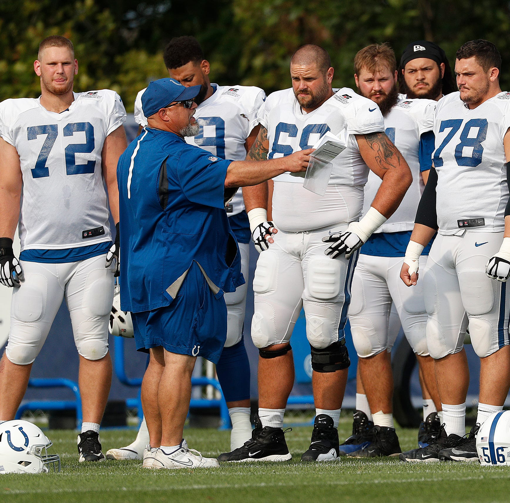Insider: Coach Dave DeGuglielmo is the throwback the Colts' offensive line needs