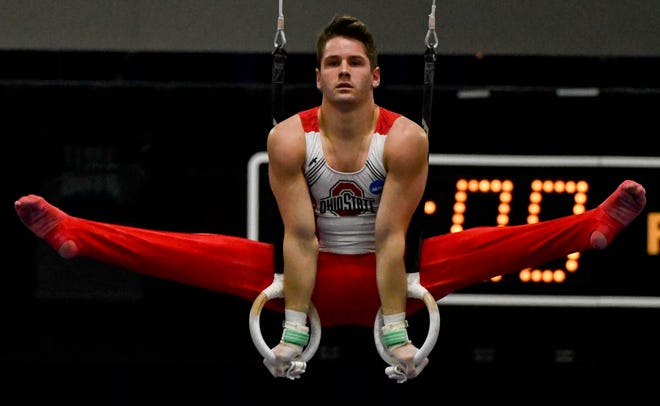 Indianapolis gymnasts Alec Yoder. above, and Anton Stephenson are looking ahead to the  2020 Tokyo Olympics.