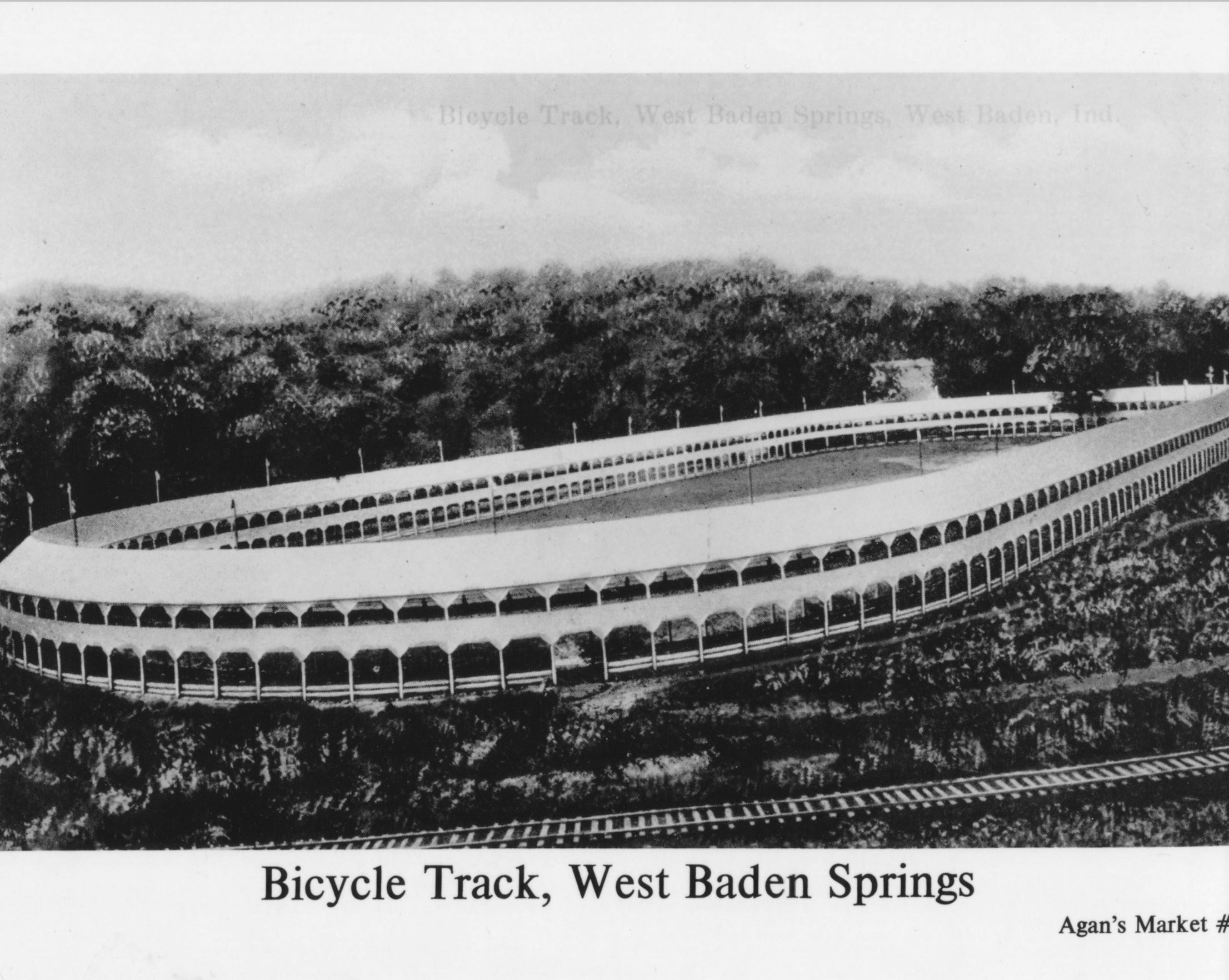 The one of a kind bicycle and pony track. Cycling on the top level, pony carts on the bottom. A baseball field in the center  was the spring training grounds for major league teams.