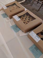 Pies from the Jo Beers Contest at the Johnson County Fair are shown.