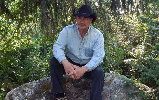 Ben Hogben, of Danby, in his new cowboy hat.