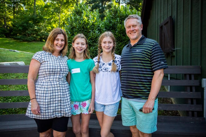 Bruce and Jennifer Garner with their daughters this summer (2018) at Camp Merri-Mac in Black Mountain, North Carolina. The Garners are a new family to Jackson, and Jennifer says they very much look forward to becoming part of the community.