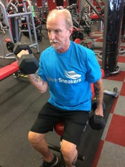 Focusing on his biceps is part of TJ Fetch's regimen.