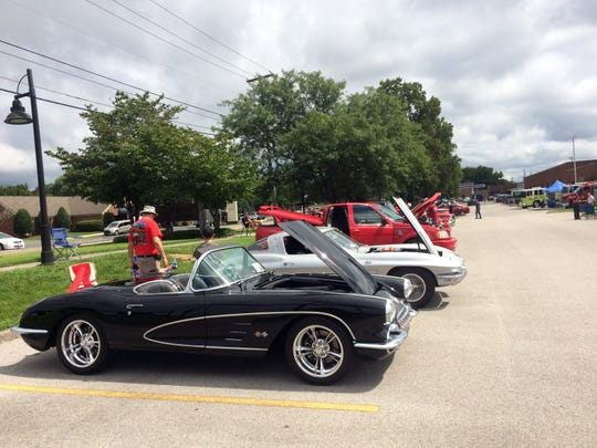 A line of cars gave visitors plenty to see.
