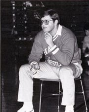Halls High wrestling coach Chris Vandergriff, 1988.