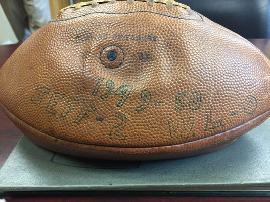 Jeff Game Ball From 1949