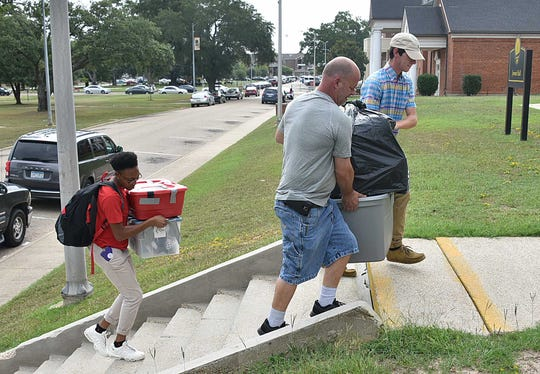Grambling State students move into their dorms Aug. 12.