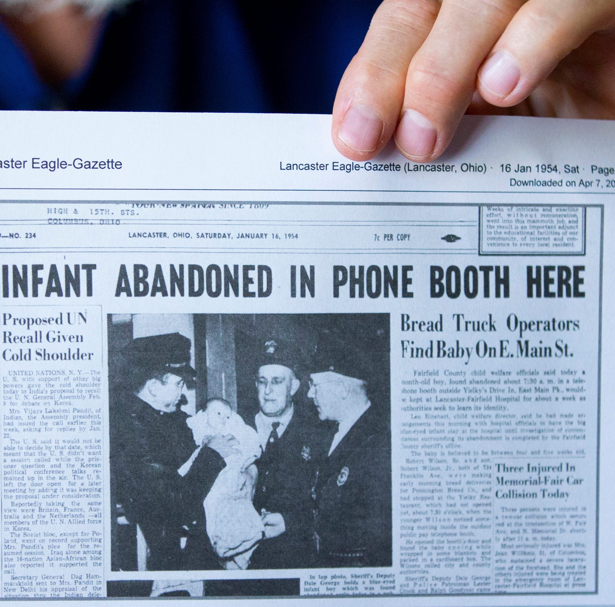 Man abandoned in Lancaster phone booth in 1954 meets birth mother, gets answers