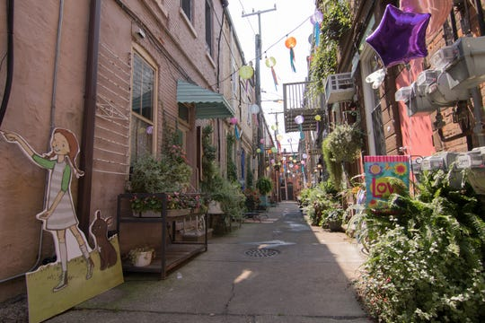 Peanut Row alley south of Clinton St. in downtown Howell, shown Tuesday, Aug. 14, 2018, is among the downtown areas under consideration for improvements.
