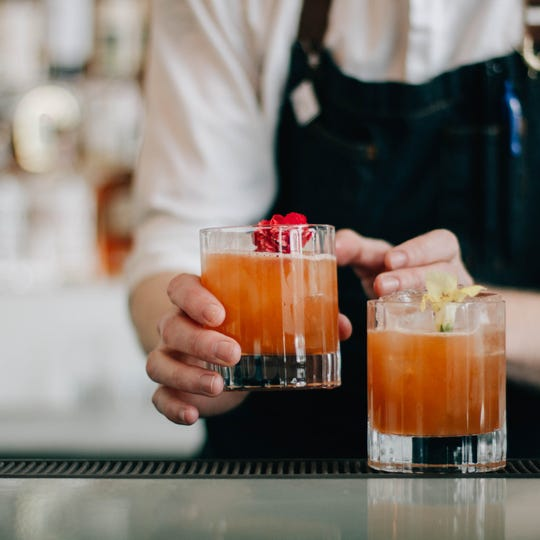 Cocktails make up a huge part of the ambiance at Bottle & Bond Kitchen and Bar at Bardstown Bourbon Company
