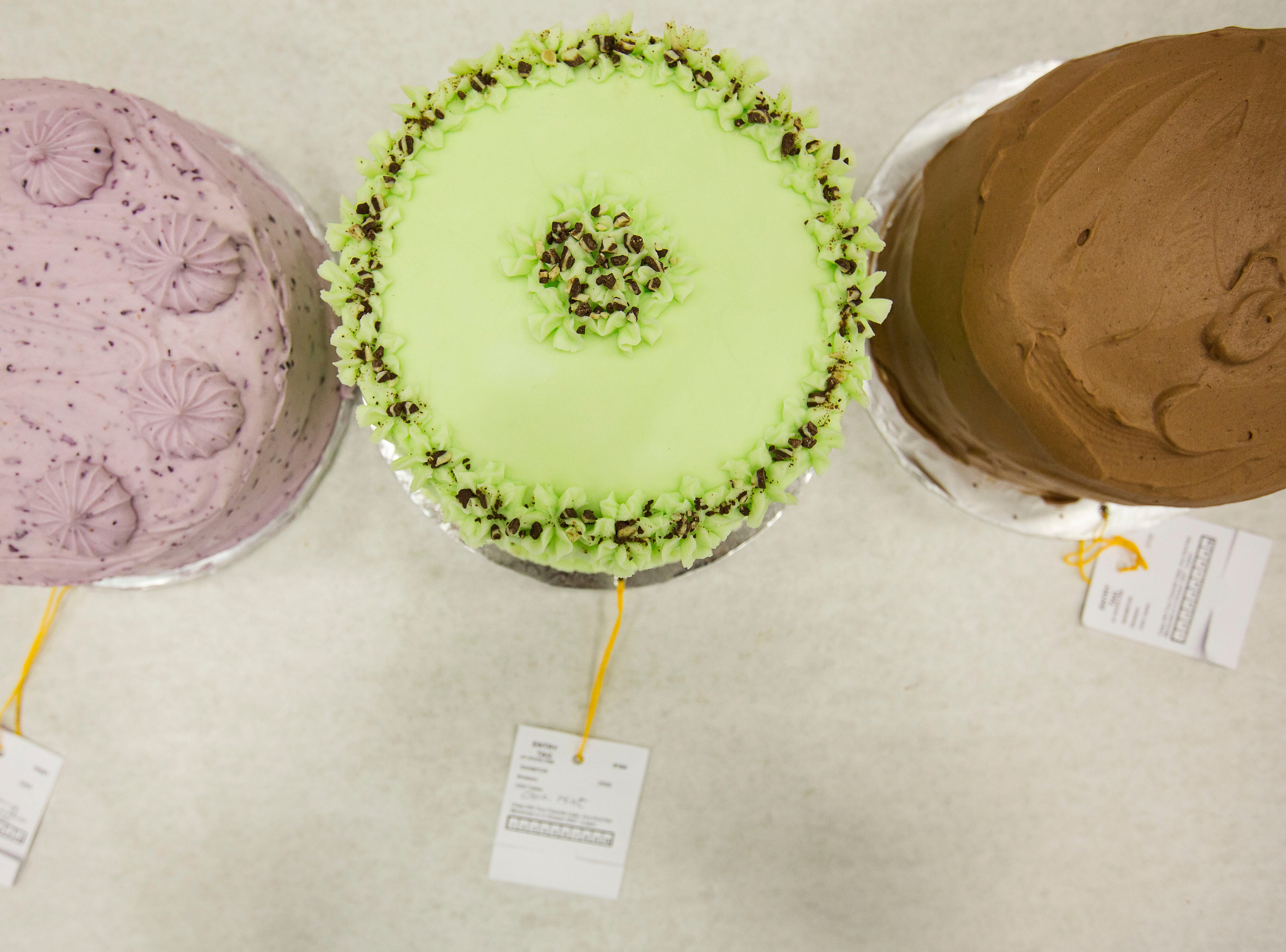 """Choco Mint, center,  won first place in the category of """"Favorite Cake"""" at Tuesday's taste testing at the Kentucky State Fair on  August 14, 2018."""