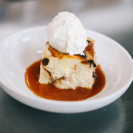 Bread pudding at Bottle & Bond Kitchen and Bar at Bardstown Bourbon Company