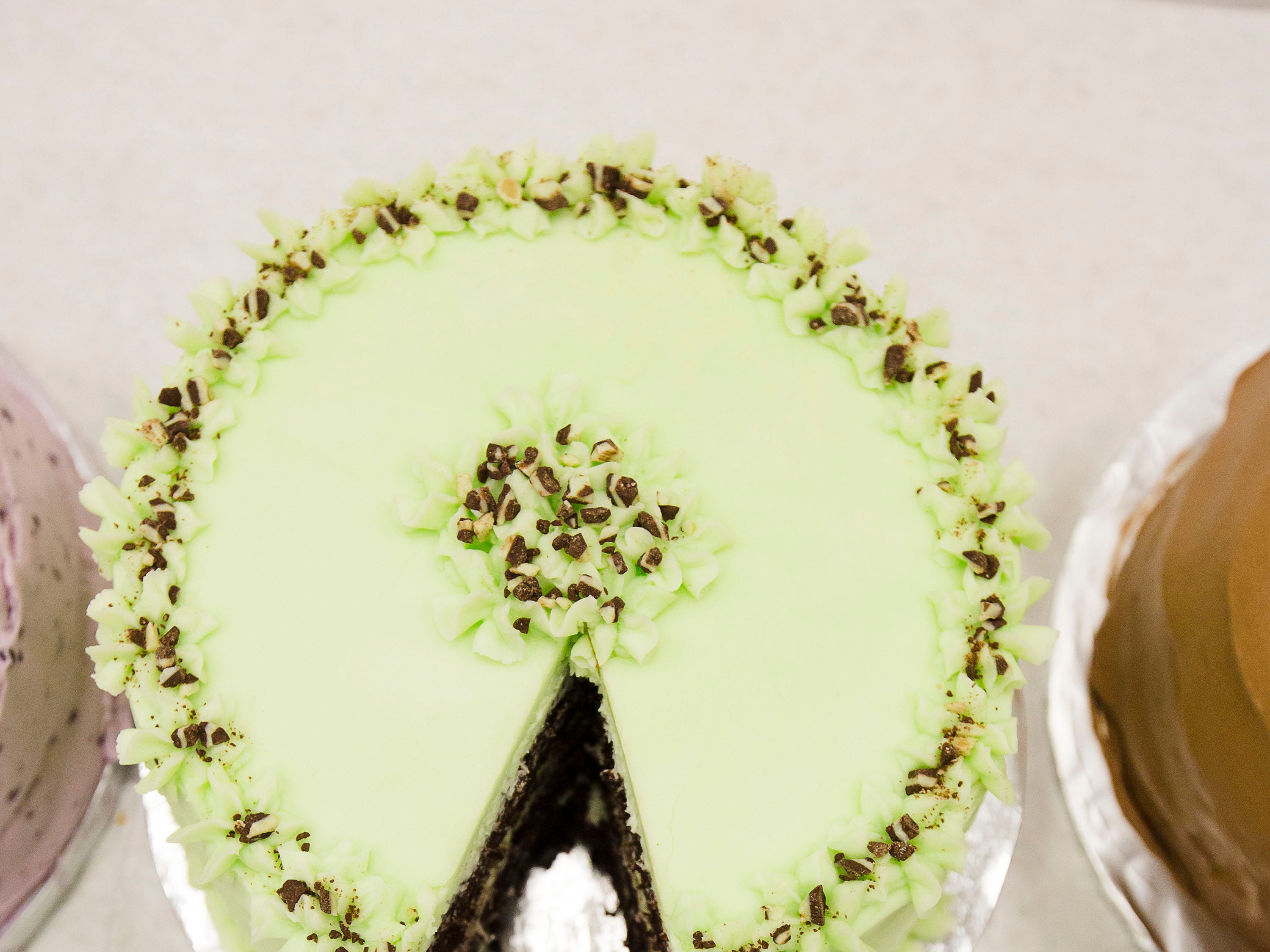 """Choco Mint won first place in the category of """"Favorite Cake"""" at Tuesday's taste testing at the Kentucky State Fair on  August 14, 2018."""