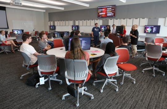 A classroom inside the new Belknap Academic Building.