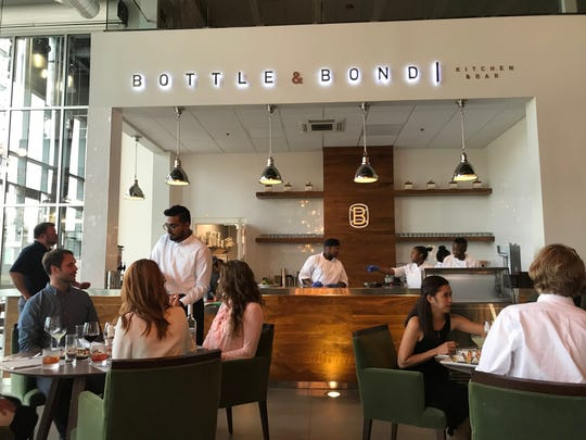 The interior of Bottle & Bond Kitchen and Bar at Bardstown Bourbon Company