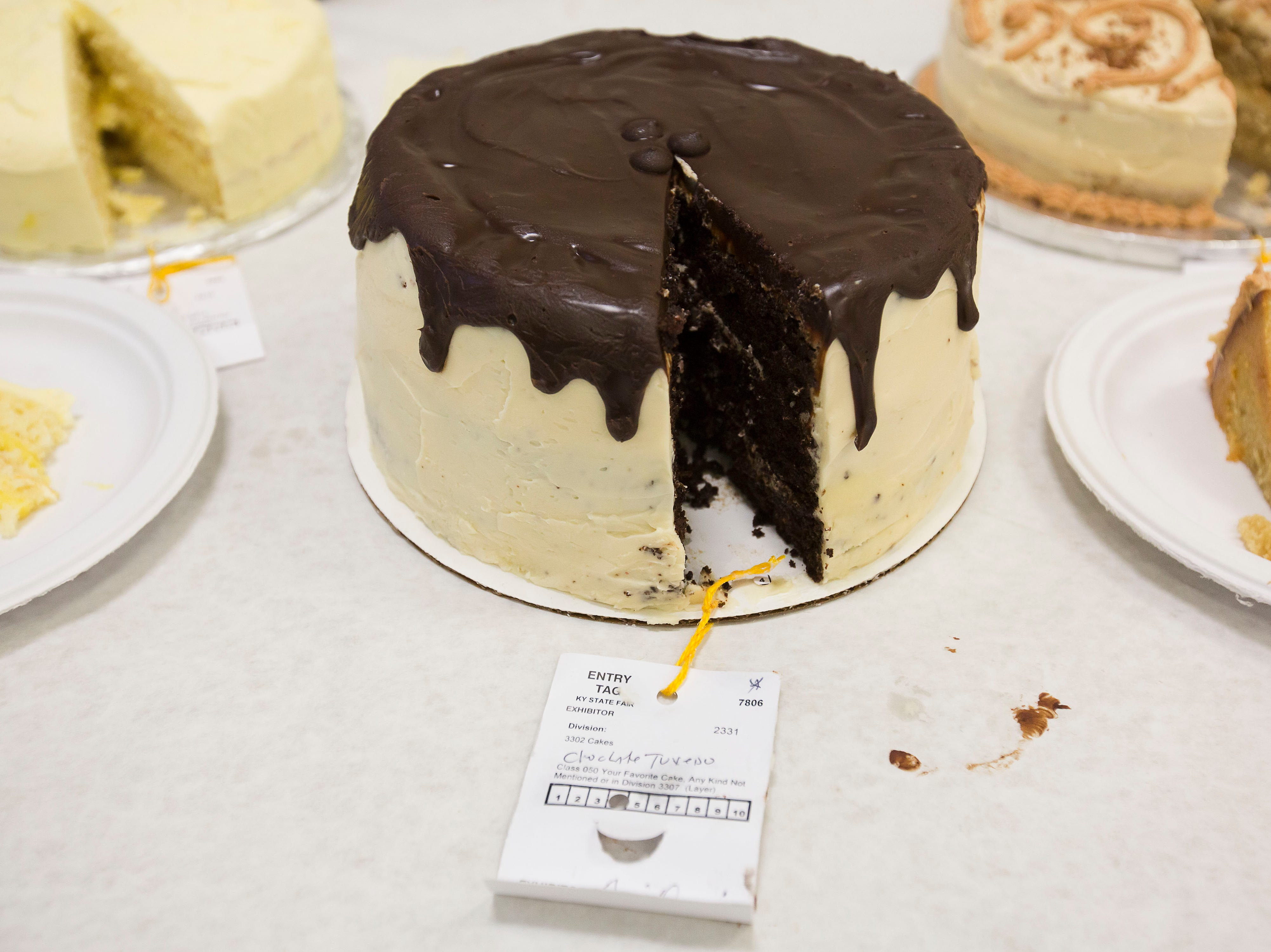 """Tuxedo won fourth place in the category of """"Favorite Cake"""" at Tuesday's taste testing at the Kentucky State Fair on  August 14, 2018."""