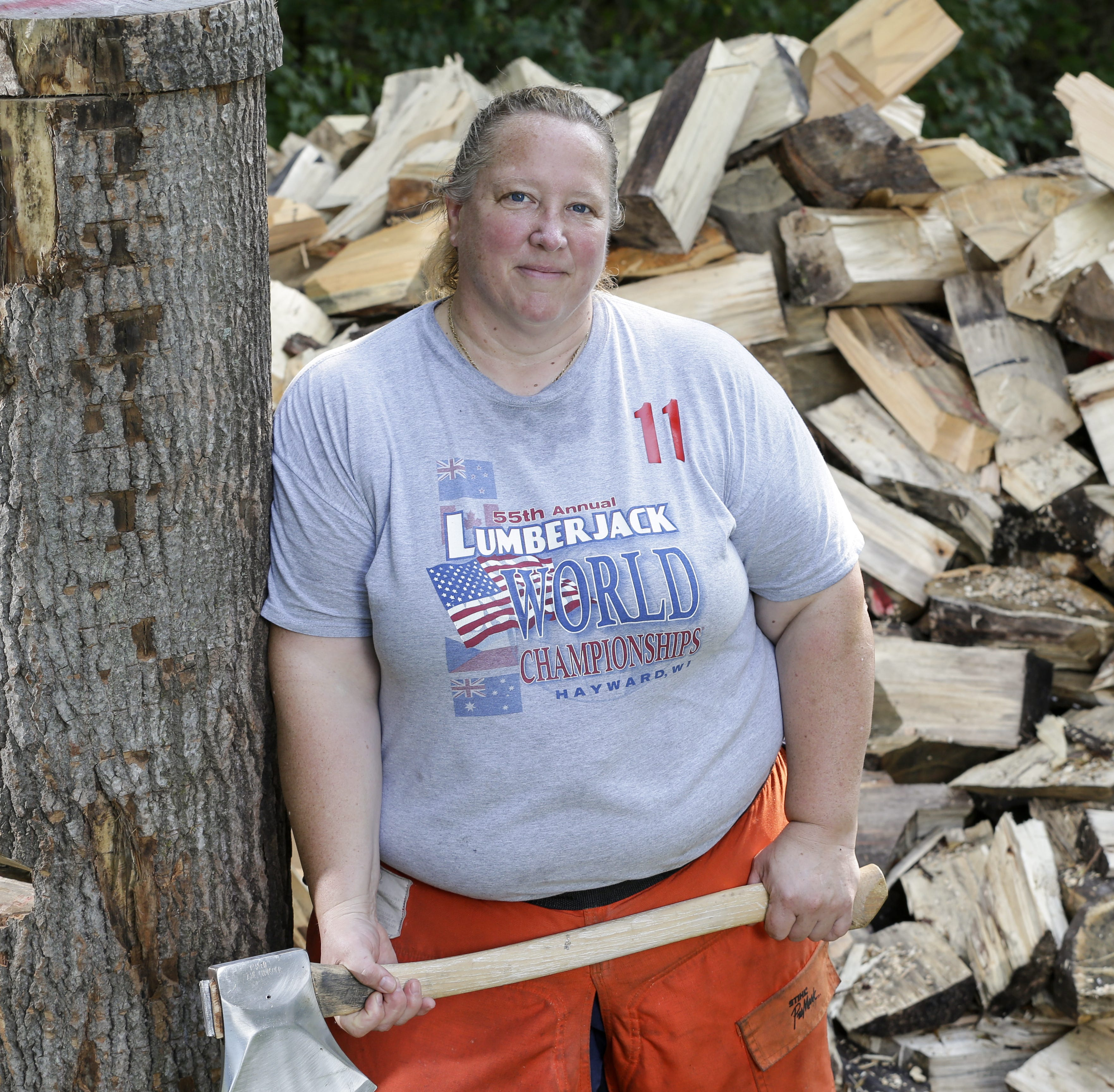 Manitowoc's Nancy Zalewski is a top timber sports athlete who also owns a world record