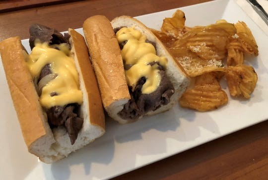 The Philly cheesesteak sandwich at Philly Grille, Marco Island