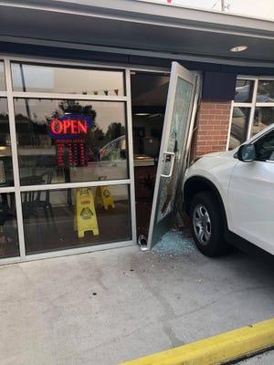 A woman was injured after a car struck Gilles Frozen Custard on Aug. 13