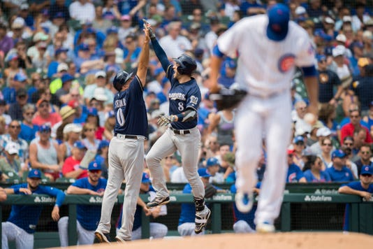 Mlb Milwaukee Brewers At Chicago Cubs