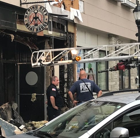 Six firefighters injured in a fire that has closed three popular downtown Waukesha businesses