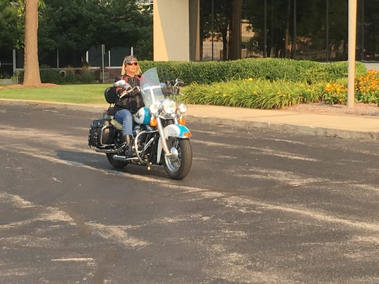 Lisa Starbuck says one of the best things about being a Harley owner is the people you meet.