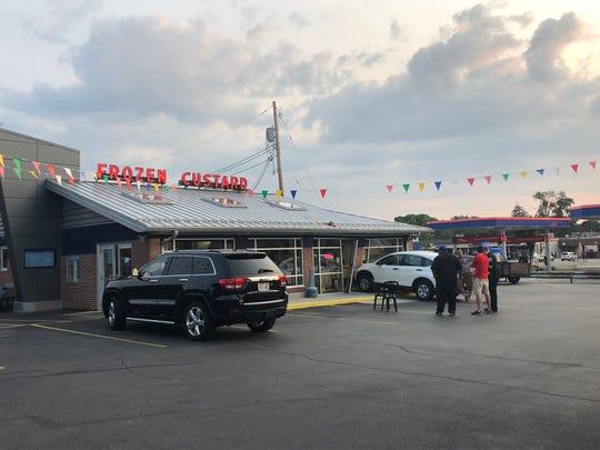 A car drove into Gilles Frozen Custard, 7515 W. Bluemound Road, Milwaukee, at 6:50 p.m. Aug. 13.