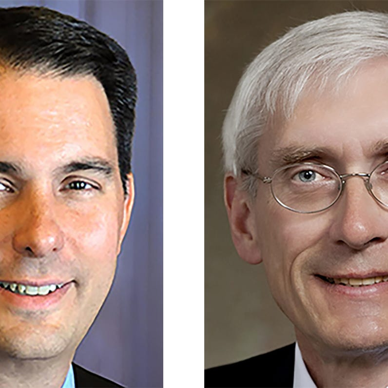 Marquette poll: Tony Evers leads Scott Walker 49 percent to 44 percent in governor's race