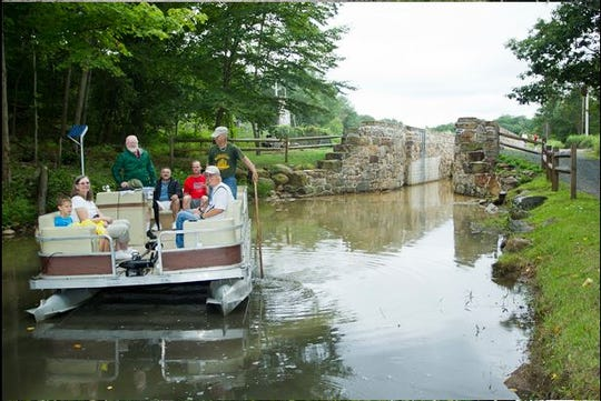 A guided boat tour at one of the previous Canal Day Music & Craft Festivals in Wharton's Hugh Force Canal Park.