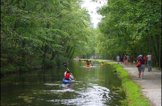 A kayak ride at one of the previous Canal Day Music & Craft Festivals in Wharton's Hugh Force Canal Park.