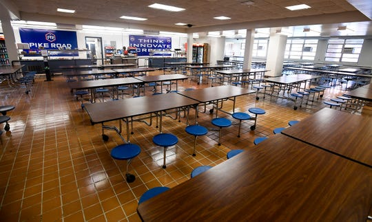 The lunchroom at Pike Road High School, located in the old Georgia Washington Middle School building in Pike Road, Ala., on Tuesday August 14, 2018.
