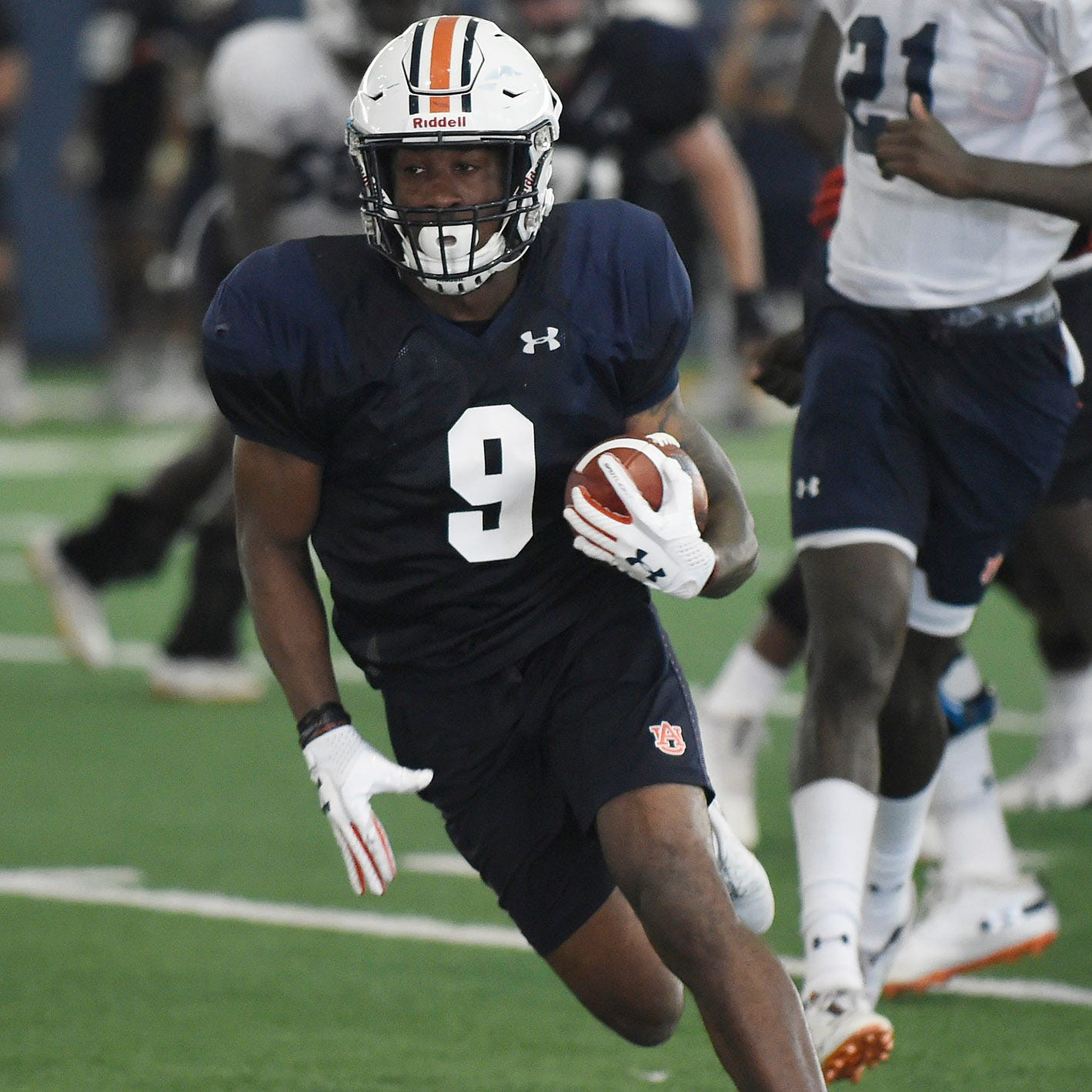 Kam Martin's move to the top of Auburn's running back depth chart started in the weight room