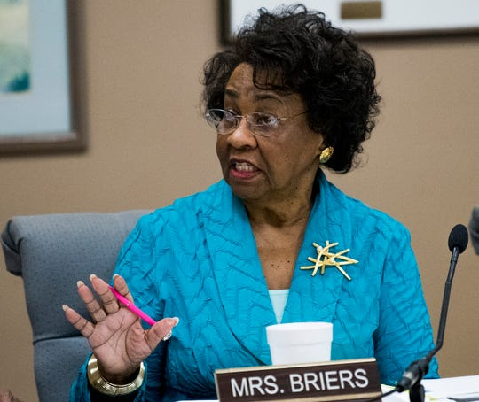 Board member Mary Briers during a work session of the Montgomery School board in Montgomery, Ala. on Tuesday August 14, 2018.
