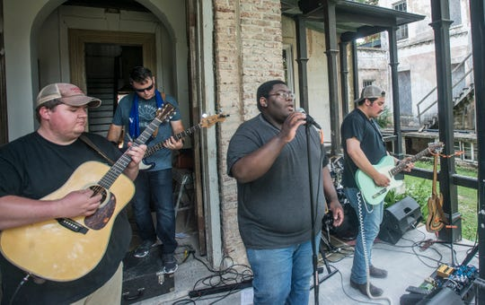The band The Sea of Cities performs at Shindig, a free concert and outdoor gathering that was also a fundraiser for Child Protect, Children's Advocacy Center, on July 29, 2018, at Montgomery's Winter Place in Historic Cottage Hill.