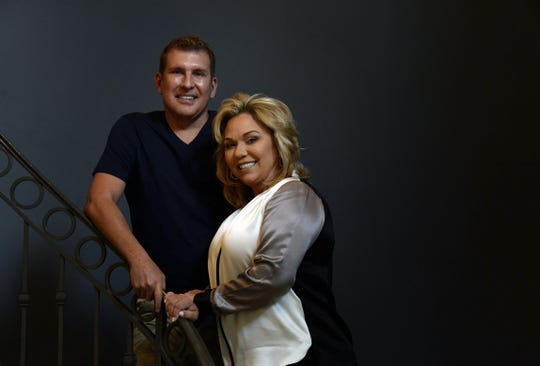 Reality TV stars Todd Chrisley and his wife, Julie, at their Belle Meade home in Nashville, Tennessee.