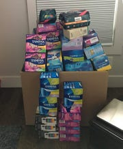 On The Dot collects feminine hygiene products and provides them to MNPS students through the East Nashville Y-CAP.