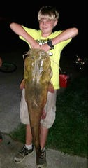 Brandon Wilhite caught this 39-pound flat head catfish on his 13th birthday last month on Cheatham Lake.