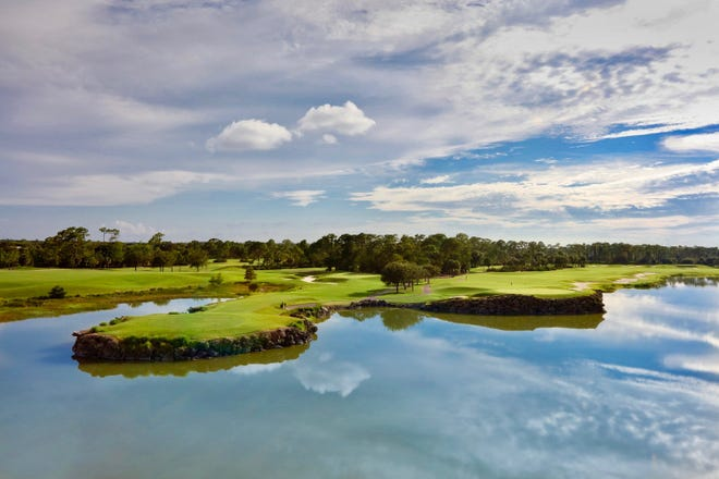 Panoramic lake and golf course views are available from nearly every residence at Moorings Park Grande Lake.