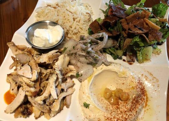 The Beiruti platter from Kareem's Lebanese Kitchen in East Naples.