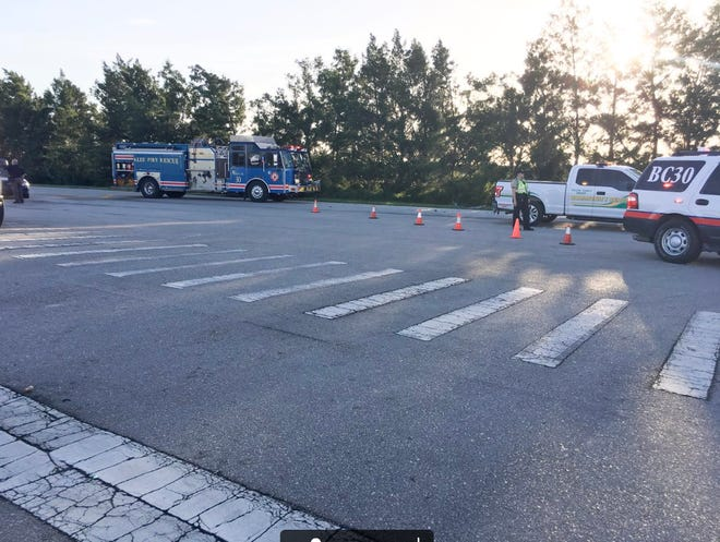 Photo from the scene of a fatal crash in Ave Maria on Tuesday morning, Aug. 14, 2018.