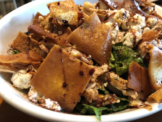 The Fattoush salad from Kareem's Lebanese Kitchen in East Naples.