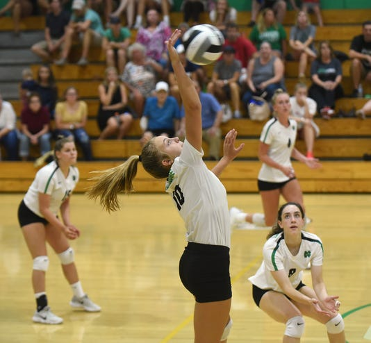 Local Teams Scrimmage During Newark Catholic Volleyball Preview