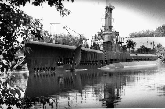 The USS Ling, at the Hackensack River berth where it is open to the public. The World War II submarine was commissioned in 1943 and is similar to those mentioned.