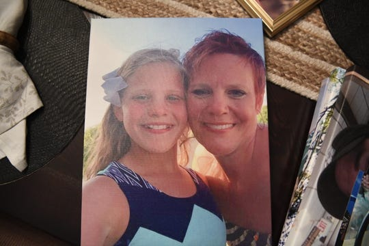 A photo of Dianne Grossman and her daughter Mallory on vacation in North Carolina. Mallory committed suicide at the age of 12 after constant bullying from classmates.