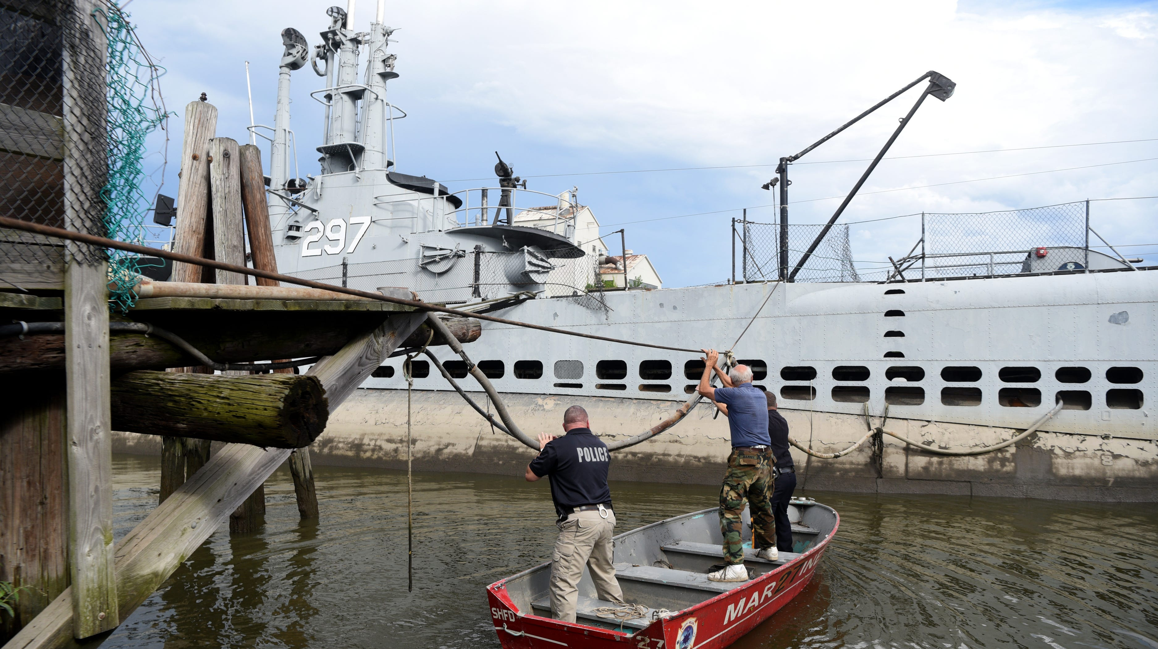Next steps for Hackensack submarine USS Ling unclear, as 10 feet of water sits inside