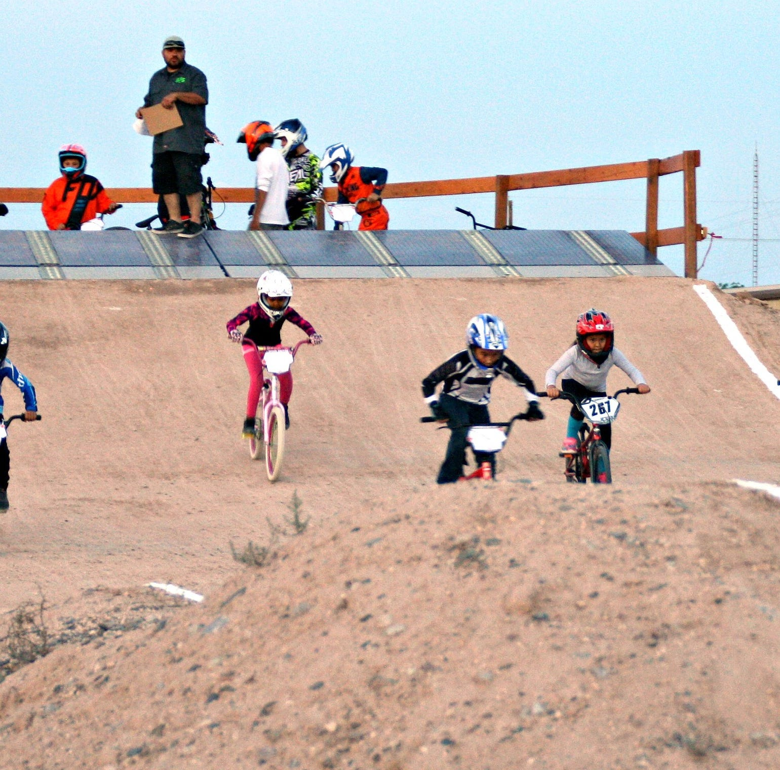 BMX riders race 575 Track at grand opening in Deming, NM