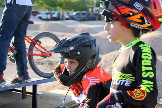 BMX riders were anxious to test out the new Five-Seven-Five Track at 1000 E. Ash Street in Deming.