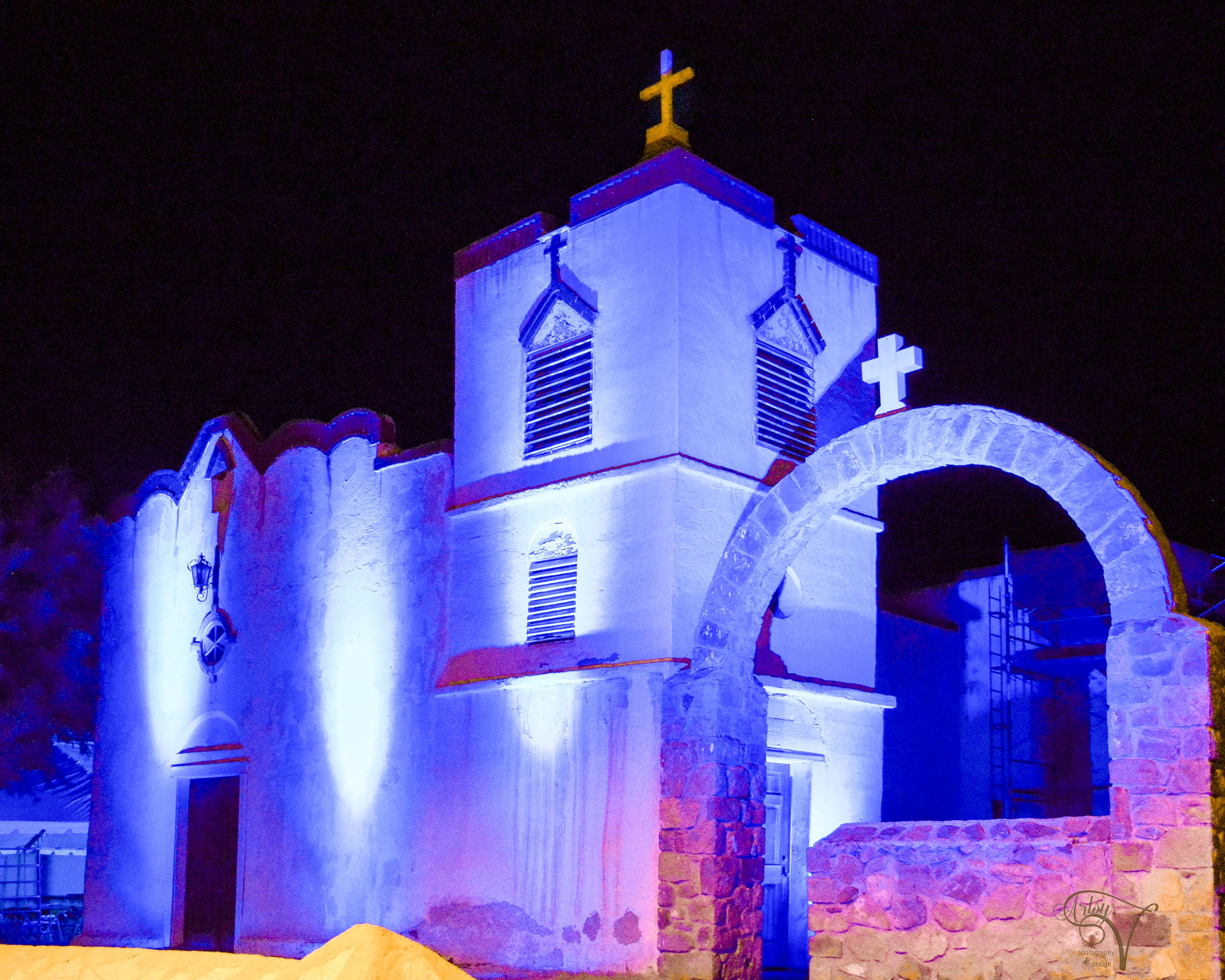 Our Lady of Purification Catholic Church lights up for fiesta | Las Cruces Sun