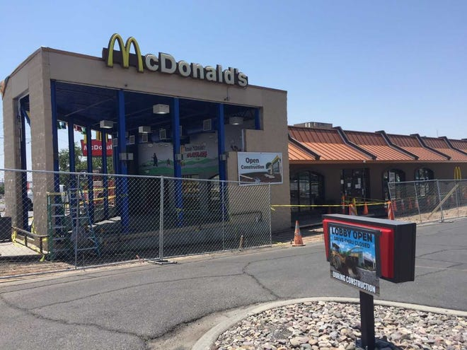 The McDonalds at 2495 N Main St., in Las Cruces, was under construction Tuesday, Aug. 14, 2018.
